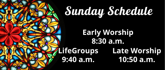 New worship times