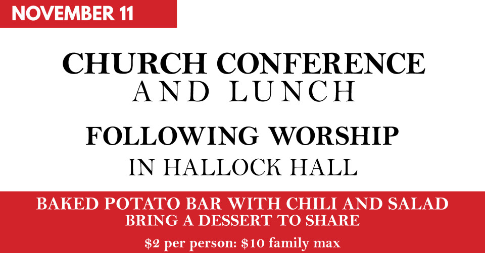 Church Conference And Lunch