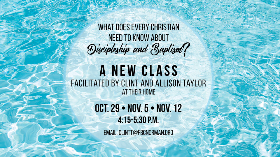 Discipleship and Baptism for youth