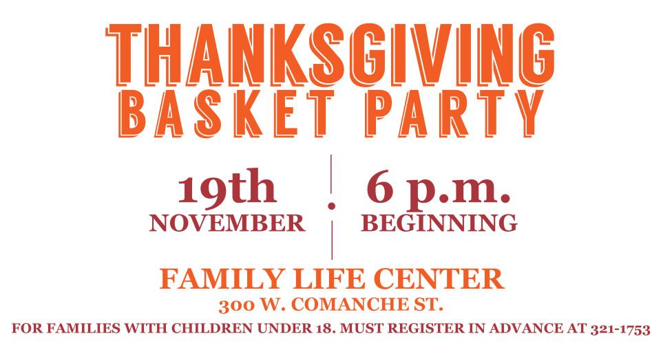 Thanksgiving Basket Party