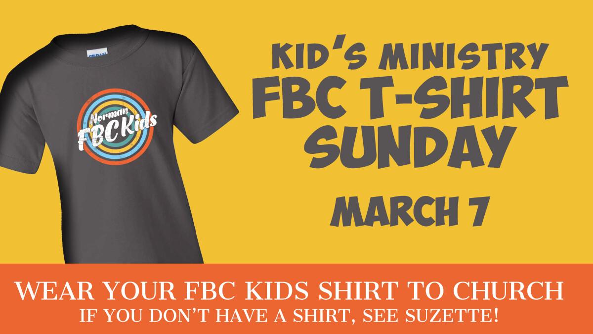 FBC Kid's Tshirt Day